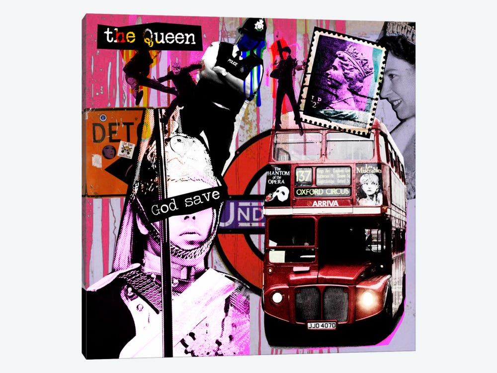 London #3 by Luz Graphics 1-piece Canvas Print