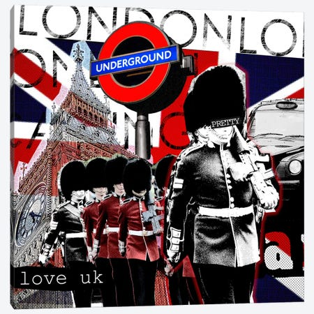 London #2 Canvas Print #LUZ41} by Luz Graphics Canvas Art Print