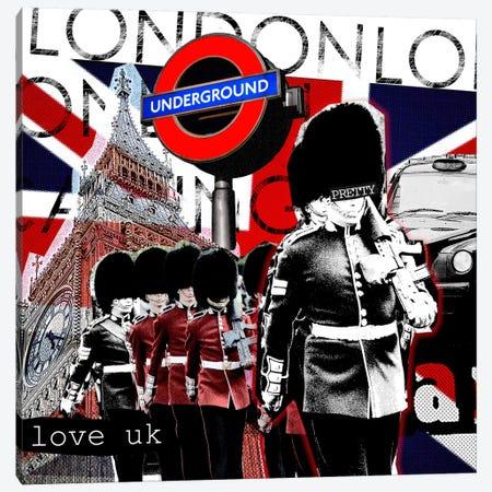 London #2 Canvas Print #LUZ41} by Luz Graphics Canvas Art Print