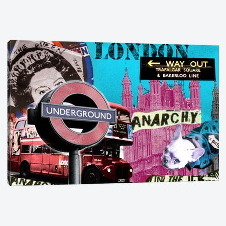 London #1 Canvas Print #LUZ43} by Luz Graphics Art Print