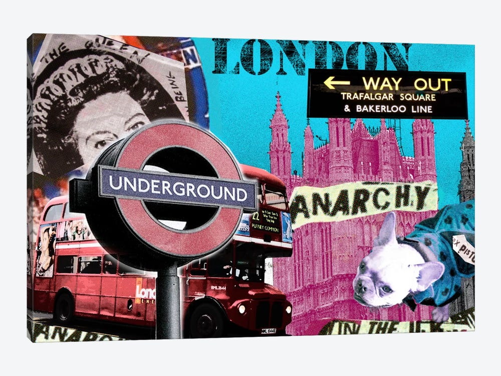 London #1 by Luz Graphics 1-piece Canvas Artwork
