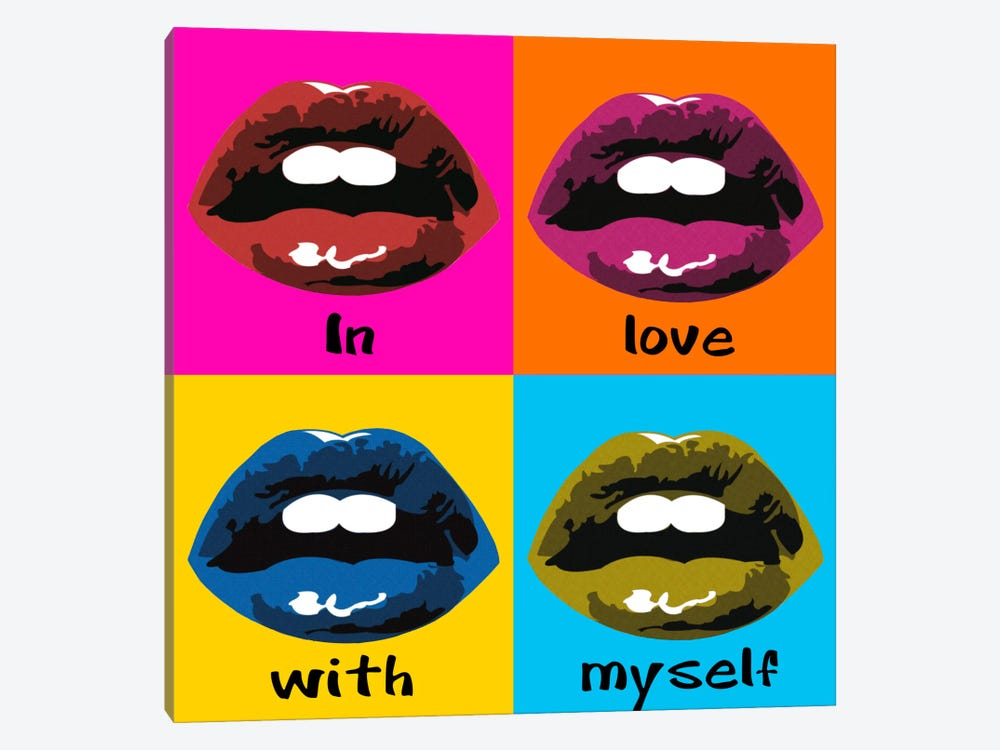 In Love With Myself by Luz Graphics 1-piece Canvas Art Print