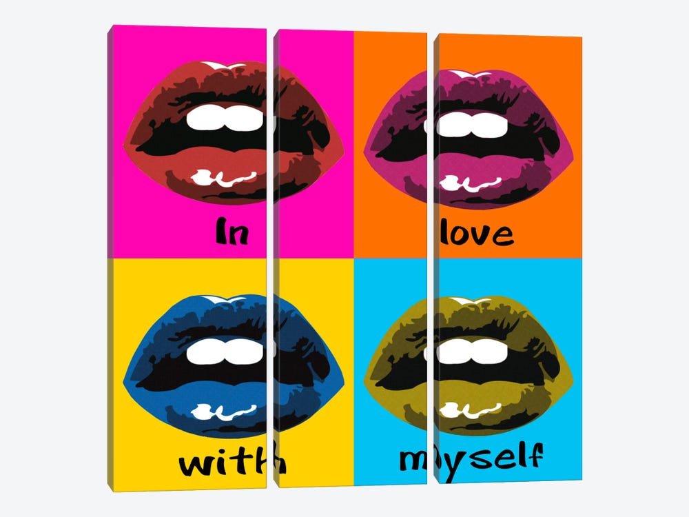 In Love With Myself by Luz Graphics 3-piece Canvas Print