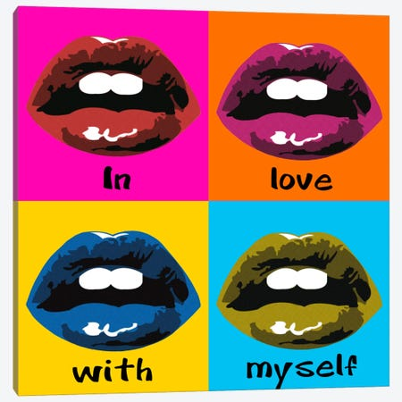In Love With Myself Canvas Print #LUZ48} by Luz Graphics Canvas Print
