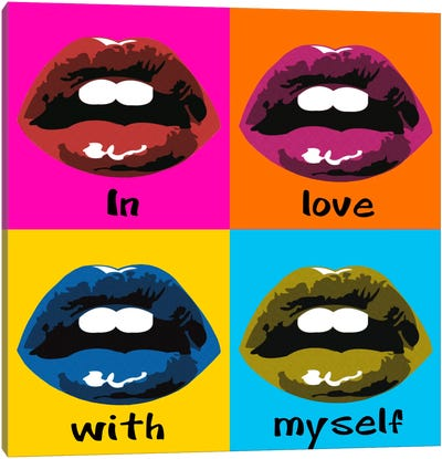 In Love With Myself Canvas Art Print