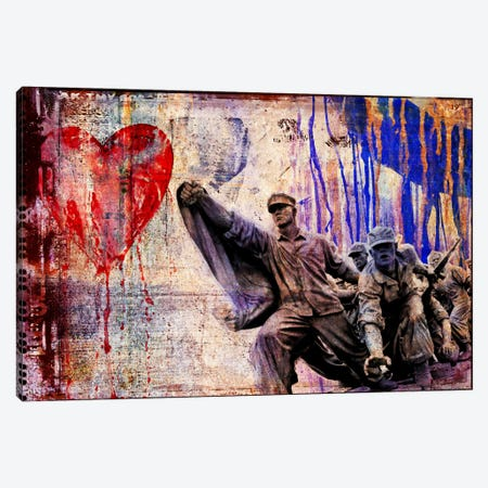 In the Name of Love Canvas Print #LUZ49} by Luz Graphics Art Print