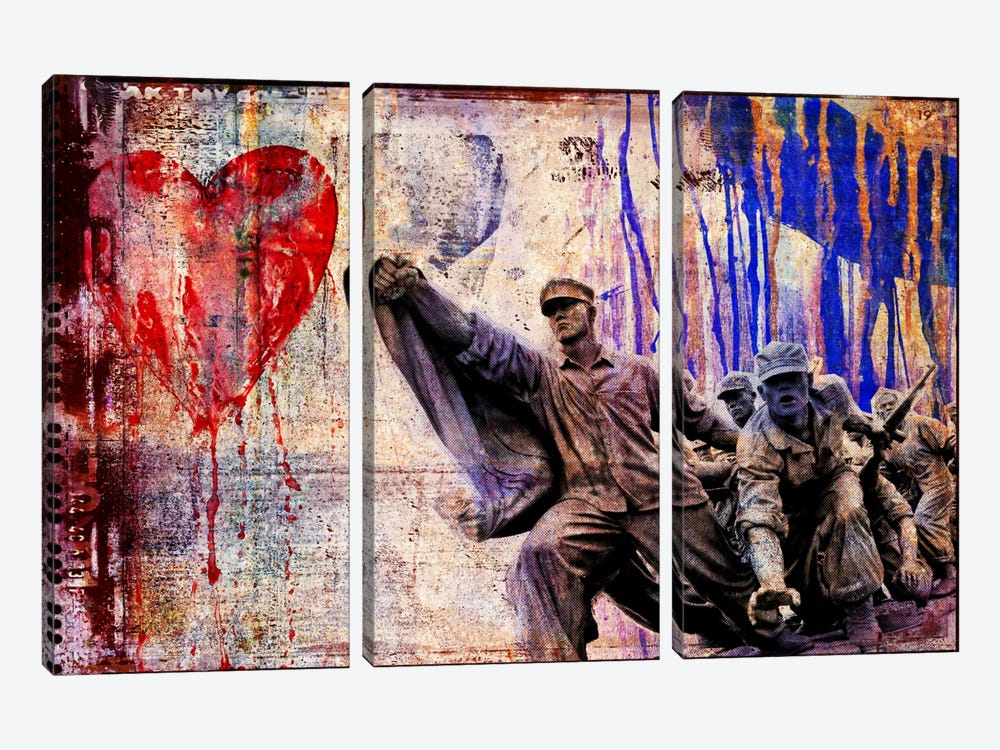 In the Name of Love by Luz Graphics 3-piece Canvas Artwork
