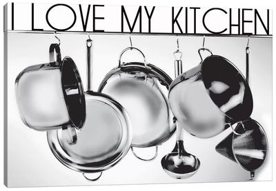 I Love My Kitchen Canvas Art Print