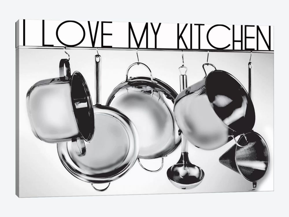 I Love My Kitchen by Luz Graphics 1-piece Canvas Wall Art