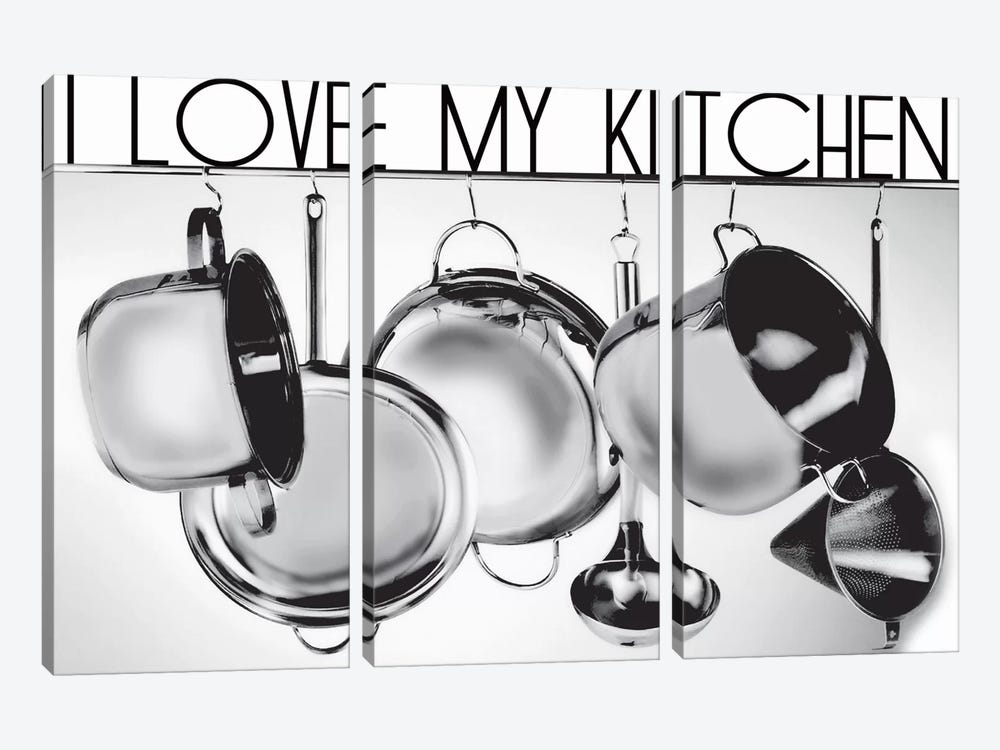 I Love My Kitchen by Luz Graphics 3-piece Canvas Artwork