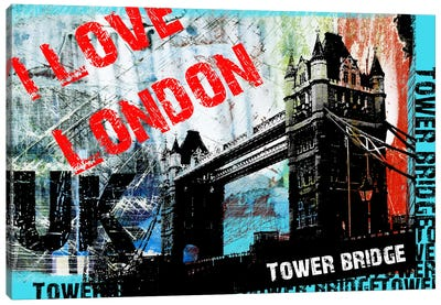I Love London Canvas Art Print