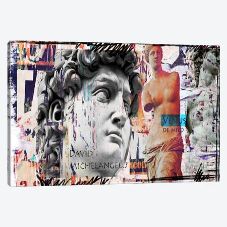 David and Venus Canvas Print #LUZ59} by Luz Graphics Canvas Wall Art