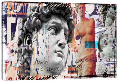 David and Venus Canvas Art Print
