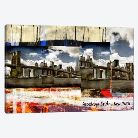 Brooklyn B New York Canvas Print #LUZ62} by Luz Graphics Canvas Print