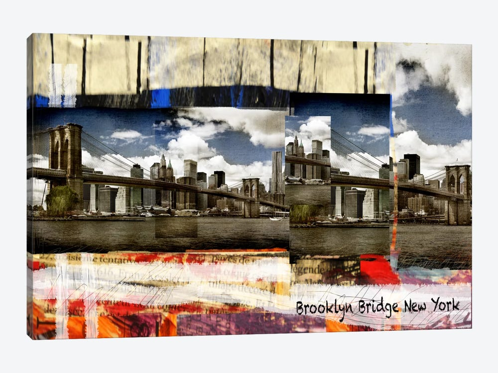 Brooklyn B New York by Luz Graphics 1-piece Art Print