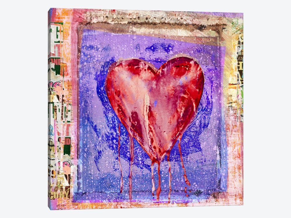Bleeding Heart by Luz Graphics 1-piece Canvas Artwork