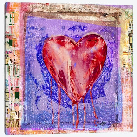 Bleeding Heart Canvas Print #LUZ65} by Luz Graphics Canvas Art