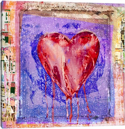 Bleeding Heart Canvas Art Print