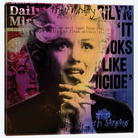 Daily Mirror News Canvas Print #LUZ69} by Luz Graphics Art Print