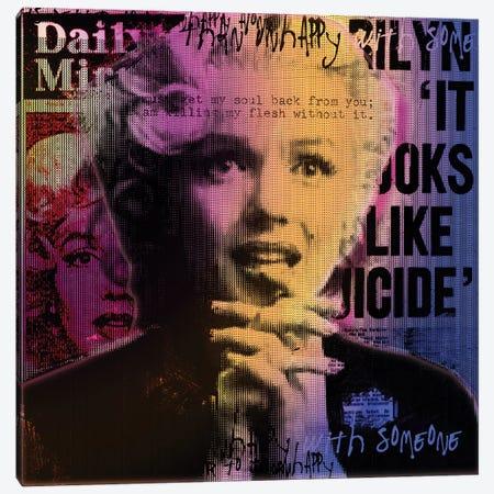 Daily Mirror News Canvas Print #LUZ69} by Luz Graphics Art Print