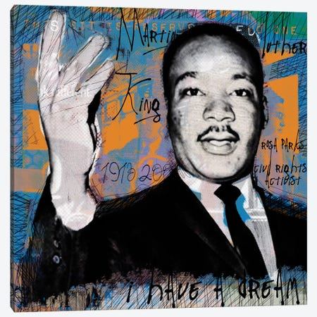 I Have A Dream Canvas Print #LUZ70} by Luz Graphics Canvas Wall Art