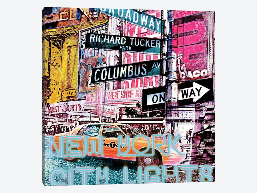 New York City Lights by Luz Graphics 1-piece Canvas Print