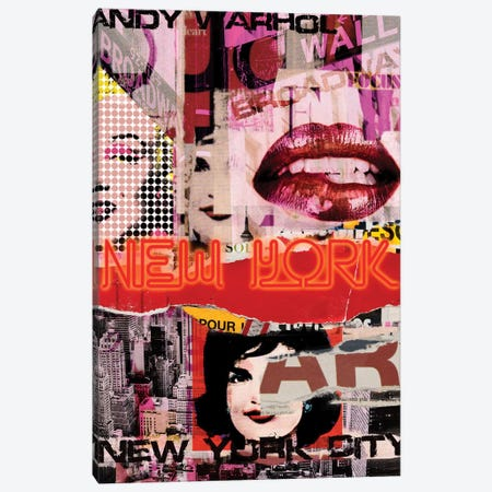 New York Delight Canvas Print #LUZ72} by Luz Graphics Canvas Artwork