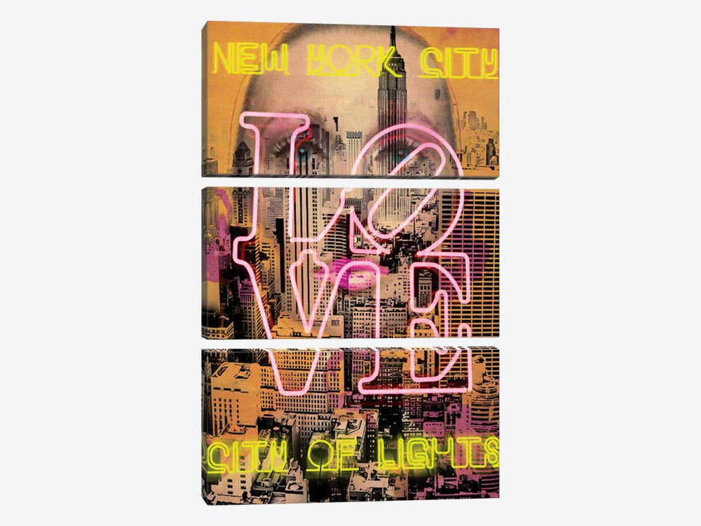 New York Eyes by Luz Graphics 3-piece Canvas Art Print