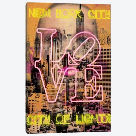 New York Eyes Canvas Print #LUZ73} by Luz Graphics Canvas Wall Art