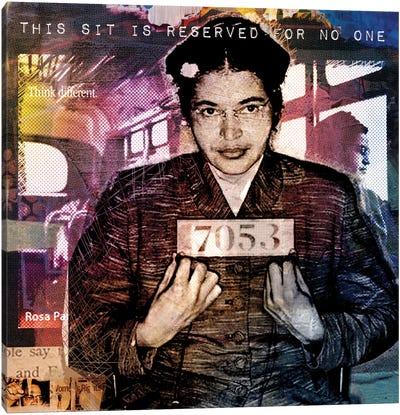 Rosa Park's Seat Canvas Art Print