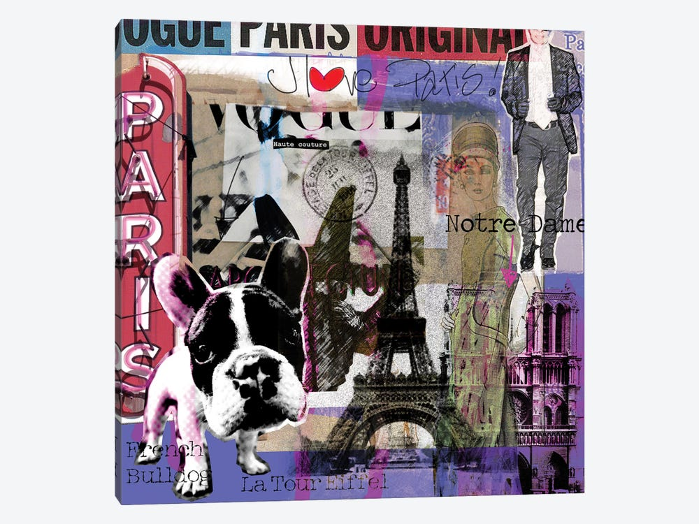 I Love Paris! by Luz Graphics 1-piece Canvas Wall Art