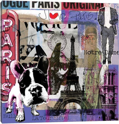 I Love Paris! Canvas Art Print