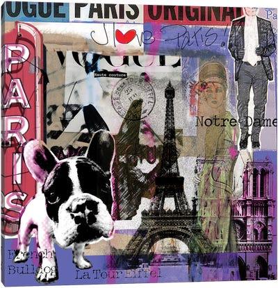 I Love Paris! Canvas Art Print