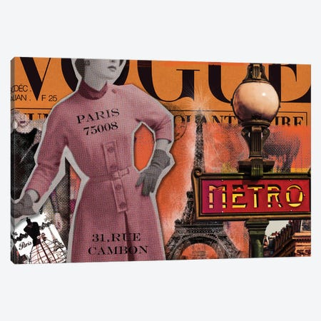 Paris Metro Canvas Print #LUZ77} by Luz Graphics Art Print
