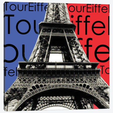 Tour Eiffel Canvas Print #LUZ79} by Luz Graphics Canvas Art