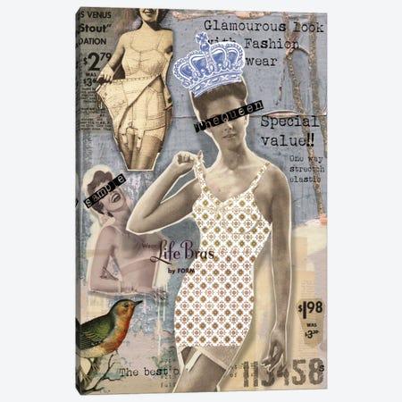 Vintage Design Canvas Print #LUZ7} by Luz Graphics Canvas Artwork
