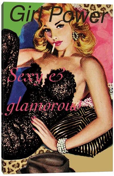 Girl Power Vintage Poster Canvas Art Print