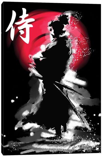 Samurai Warrior With Katana Canvas Art Print