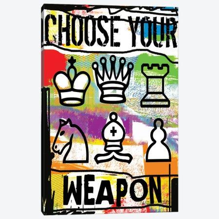 Choose Your Weapon Canvas Print #LUZ88} by Luz Graphics Canvas Art Print