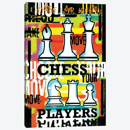 Chess Player Choose Your Move Canvas Print #LUZ89} by Luz Graphics Canvas Art Print