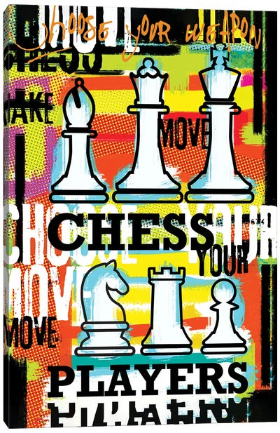Chess Player Choose Your Move Canvas Art Print