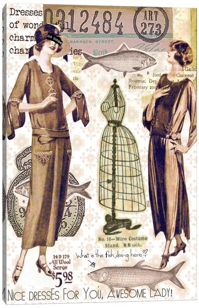 Vintage Fashion Canvas Print #2 Canvas Art Print