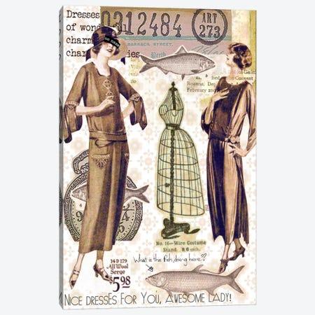 Vintage Fashion #2 Canvas Print #LUZ8} by Luz Graphics Canvas Print