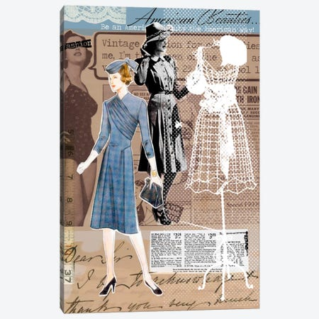 Vintage Fashion #1 Canvas Print #LUZ9} by Luz Graphics Canvas Print