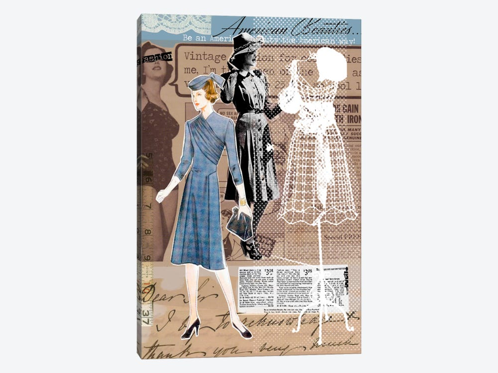 Vintage Fashion Canvas Print #1 by Luz Graphics 1-piece Canvas Wall Art