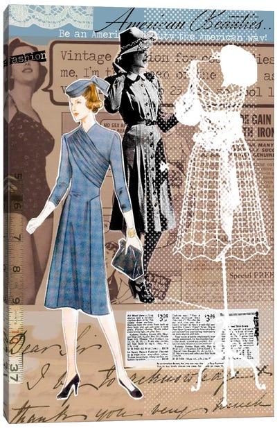 Vintage Fashion #1 Canvas Art Print