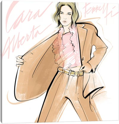 Fashion Week Alberta Ferretti Canvas Art Print