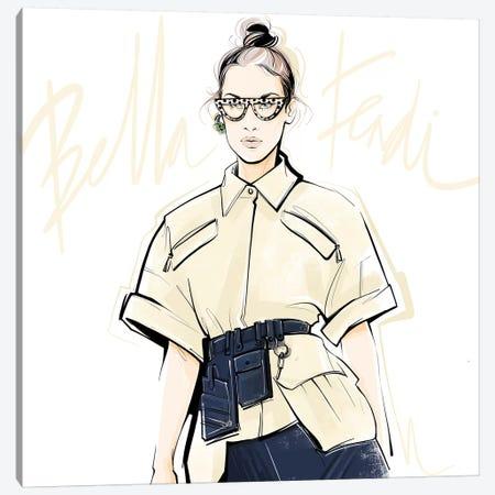 Fashion Week Bella Canvas Print #LVD12} by Alena Lavdovskaya Canvas Artwork