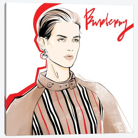 Fashion Week Burberry Canvas Print #LVD13} by Alena Lavdovskaya Canvas Wall Art