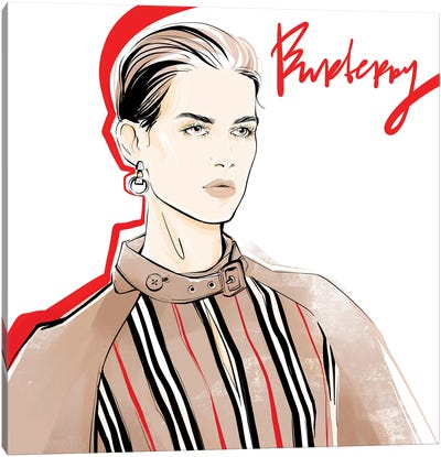 Fashion Week Burberry Canvas Art Print